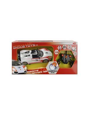 Машина р/у Porsche Spyder, свет, звук,2-х канальный, 1:16, 26см, 1/6 Dickie. Цвет: черный, красный, белый