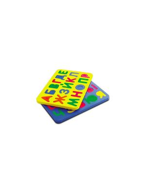 Игрушка рамка-вкладыш русский алфавит БОМИК. Цвет: синий, зеленый, красный