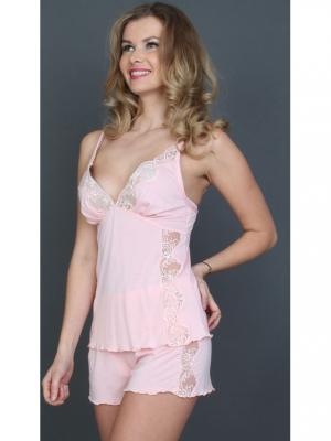 Комплект майка и шорты MARIPOSA. Цвет: розовый