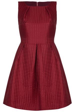 Платье Iska. Цвет: bordeaux