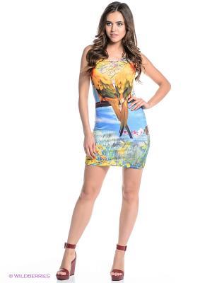 Платье Fullah Sugah. Цвет: желтый