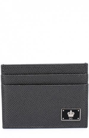 Кожаный футляр для кредитных карт Dolce & Gabbana. Цвет: темно-серый