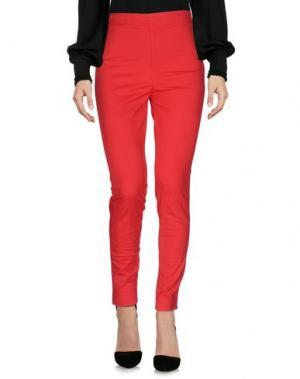 Повседневные брюки DEPARTMENT 5. Цвет: красный