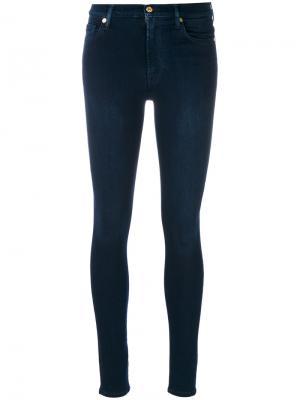 Эластичные джинсы скинни 7 For All Mankind. Цвет: синий
