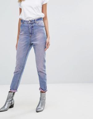 Cheap Monday Джинсы в винтажном стиле с завышенной талией. Цвет: розовый