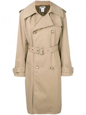 Пальто-тренч Hope. Цвет: коричневый