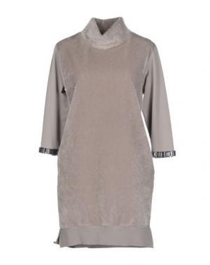 Короткое платье JIJIL. Цвет: серый