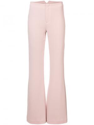 Расклешенные брюки Cinq A Sept. Цвет: розовый и фиолетовый