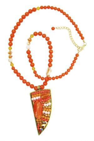 Колье Taya. Цвет: оранжевый