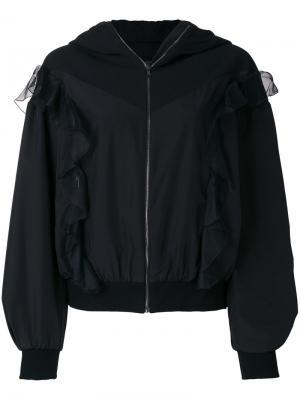 Объемная куртка бомбер Giambattista Valli. Цвет: чёрный