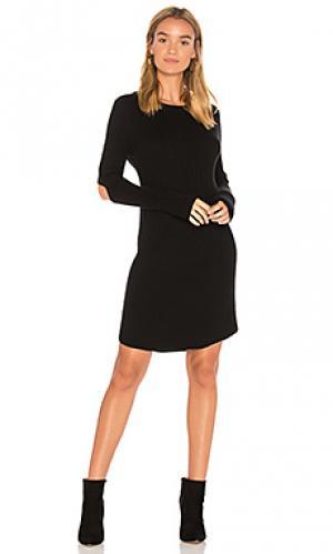 Платье свитер elbow slash MONROW. Цвет: черный