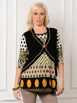 Кофточка Livaa. Цвет: черный, бежевый, зеленый