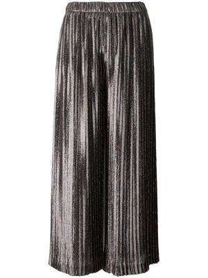 Плиссированные брюки Christopher Kane. Цвет: металлический