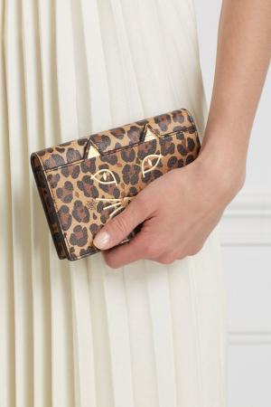 Кожаный кошелек Feline Purse Charlotte Olympia. Цвет: multicolor