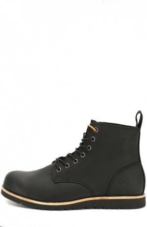 Кожаные ботинки Kazan на шнуровке Affex. Цвет: черный
