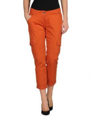 Брюки-капри DIVINA. Цвет: оранжевый