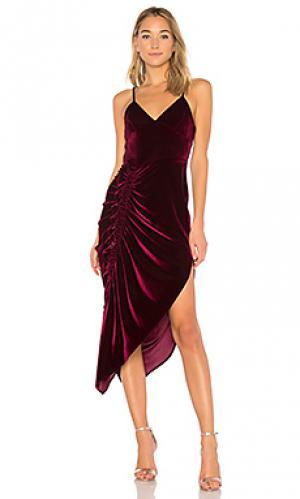 Платье миди ahn Ronny Kobo. Цвет: фиолетовый