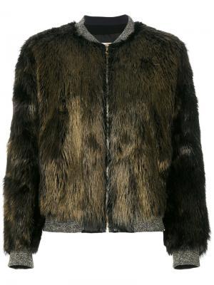 Куртка Four Castor Yves Salomon. Цвет: коричневый