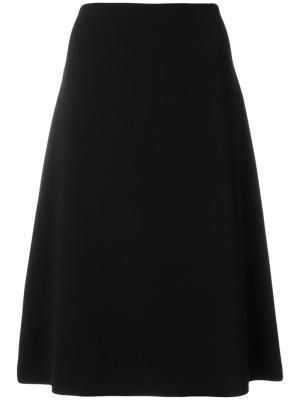 Юбка миди А-образного силуэта Ql2. Цвет: чёрный