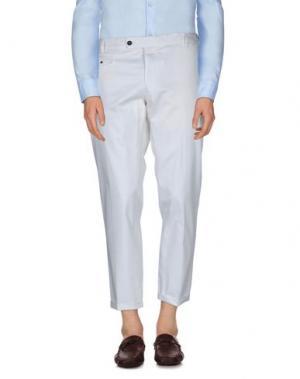 Повседневные брюки MESSAGERIE. Цвет: белый