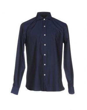 Pубашка DOMENICO TAGLIENTE. Цвет: темно-синий