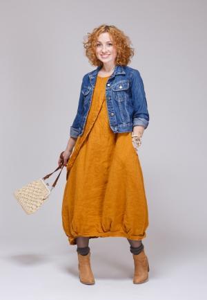 Платье Kayros. Цвет: оранжевый
