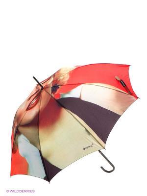 Зонт-трость Flioraj. Цвет: красный