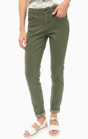 Зауженные брюки из хлопка LERROS. Цвет: хаки