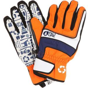 Перчатки сноубордические  Gloom Orange Picture Organic. Цвет: оранжевый,синий,белый