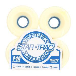 Колеса для скейтборда лонгборда  Star Trac White/Blue 94A 60 mm Kryptonics. Цвет: белый