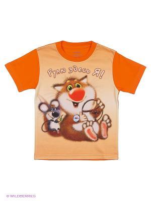 Футболка 3D Мое. Цвет: оранжевый