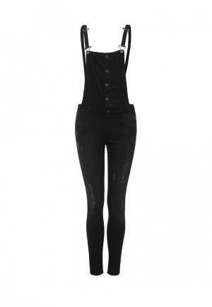 Комбинезон джинсовый Mim. Цвет: черный