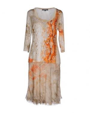 Короткое платье MARTA PALMIERI. Цвет: бежевый