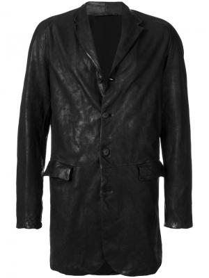 Пальто с лацканами Salvatore Santoro. Цвет: чёрный