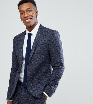Noak Приталенный пиджак в горошек. Цвет: темно-синий