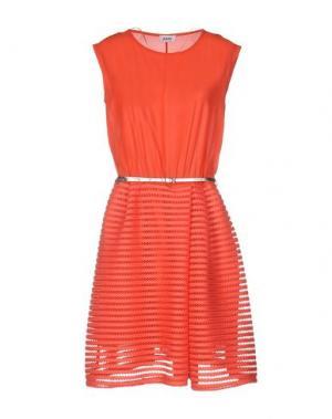 Платье до колена KATE. Цвет: коралловый
