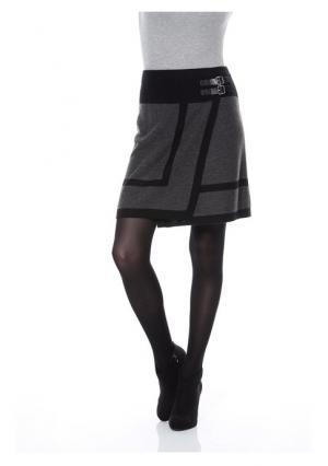 Юбка Aniston. Цвет: серый меланжевый