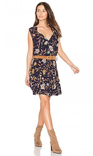 Платье kyra Bishop + Young. Цвет: синий