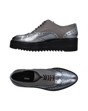 Обувь на шнурках ZINDA. Цвет: серебристый