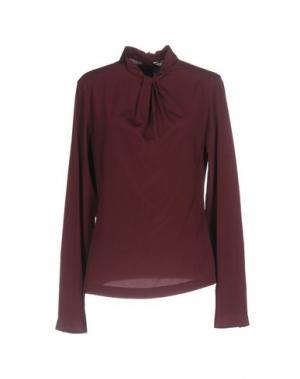 Блузка CALIBAN. Цвет: красно-коричневый