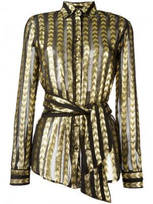 Полосатая рубашка с отделкой металлик Dodo Bar Or. Цвет: чёрный