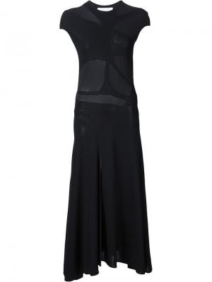 Платье Tango с панельным дизайном Esteban Cortazar. Цвет: чёрный