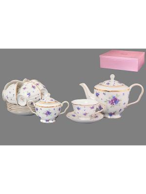 Чайный набор Сиреневый туман Elan Gallery. Цвет: белый, голубой, сиреневый