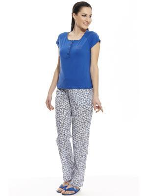 Пижама с брюками RELAX MODE. Цвет: синий