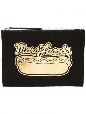 Клатч с принтом хот-дога Marc Jacobs. Цвет: чёрный