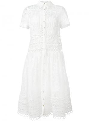 Кружевное платье Winsome Zimmermann. Цвет: белый