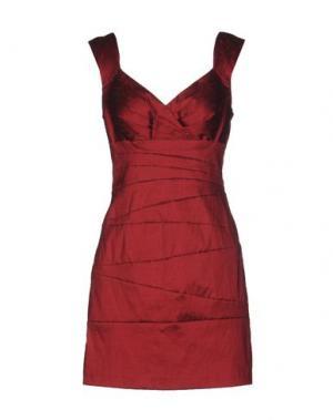Короткое платье MUSANI COUTURE. Цвет: красно-коричневый