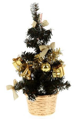 Ель, 22 см Monte Christmas. Цвет: зеленый, золотой