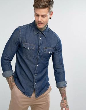 Lee Джинсовая рубашка в стиле вестерн Jeans. Цвет: темно-синий