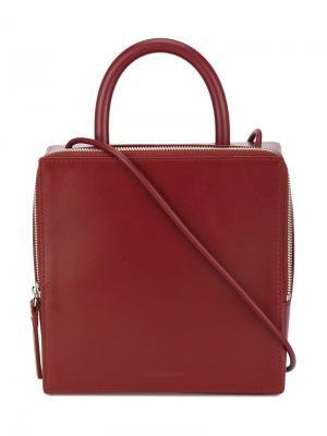 Квадратная сумка через плечо Building Block. Цвет: красный